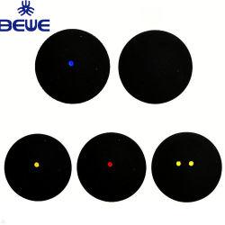Material de caucho de alta calidad negro coincide con la bola de squash con puntos