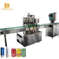 PLC automática de 2 en 1 bebida de gas de llenado de agua potable de la máquina de sellado para poder de la cerveza, refrescos de cola,