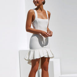 Les femmes OEM Bodycon sexy robe blanche