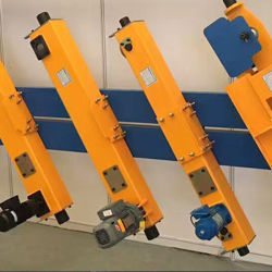 Ensembles de roue Drs Bloc avec moteur à engrenages fin Transport pour pont roulant 5 tonne 10tonne