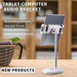 360 Regelbare Houder van de Telefoon van de Cel van de Tribune van de Desktop van het Metaal van de Houder van de Tablet van de graad de Roterende Mobiele met Spreker Bluetooth