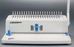De kleine Machine van de Band en van het Ponsen van de Kam van de Apparatuur van het Gebruik van het Bureau van de Grootte voor de Band van het Boek (CB200 PLUS)