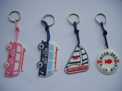 Quality 높은 Plastic Promotional Gift 3D PVC Rubber Silicon Keychain (KC-054)