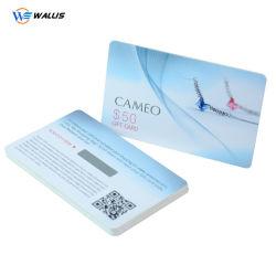 Custom Barato preço Impressão CMYK CR80 PVC plástico adesão/Business/cupão/Cor Branco Impressão de cartão em branco com o Chip