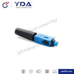 FTTHのドロップ・ケーブルのためのSc/APC Sc/Upcの光ファイバ速いコネクター