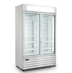 La réfrigération commerciale Smart porte en verre de dégivrage réfrigérateur / Frigo pour Restaurant verticale