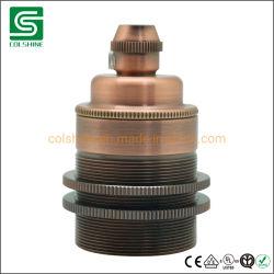 Het ruwe Retro E27 Metaal van de Contactdoos, de Antieke Contactdoos Van uitstekende kwaliteit van de Houder van de Lamp van het Messing voor Tegenhangers en Retro Lichten van de Tegenhanger