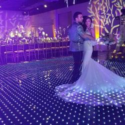 P10cm acrylique vidéo RVB étanche le plus récent plancher de danse de LED pour des vacances partie spectacle de scène du Club de mariage