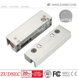 12V-24V Fail Safe/Secure vis électrique drop lock pour une pleine Frame-Less porte en verre
