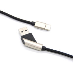 2019 fornecimento fábrica venda quente ângulo de 45 Novo Design C USB Cabo de carregamento de linha para a Samsung e a Huawei