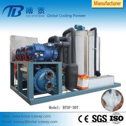 30t van het Ijs van de Vlok van het Zeewater de Constructeur Van machines van uitstekende kwaliteit met Compressor Bitzer
