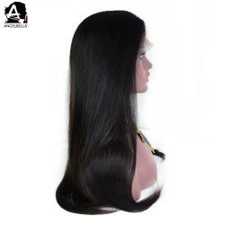 Angelbella Indian Women Hair Wig 1b# Soft Hand Feel Lace Front Wig