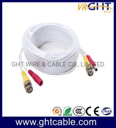 De Kabel van kabeltelevisie met de Stoppen van BNC & van gelijkstroom voor de Camera van kabeltelevisie/Veiligheid Survilliance
