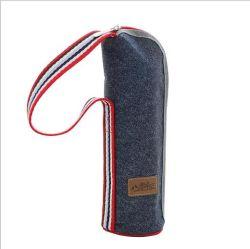 Il dispositivo di raffreddamento termico caldo promozionale della bottiglia insacca la tazza isolata denim di picnic