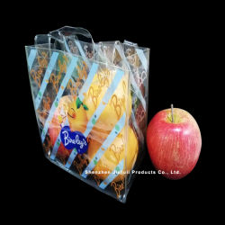 Customzied Logo Fashion High Quality Nice Price PVC Handle Bag لهدية فواكه
