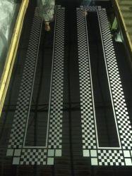 Edelstahl-Blech-Herstellungs-dekorative Höhenruder-Tür der Fuss-4*8