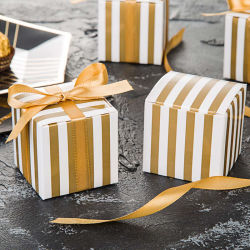 Premium Papier de luxe vide cadeau personnalisé des bonbons au chocolat emballage