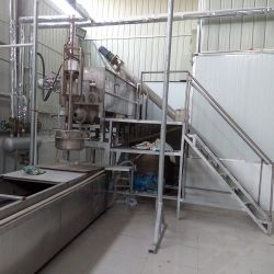 A linha de produção em grânulos de batata-doce
