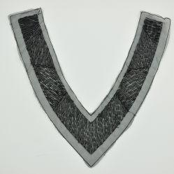Бусинковый спай черный метро от шва с круглым вырезом горловины для одежды втулку