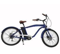 250W vélo électrique Batterie au Lithium Frein à disque Moteur brushless avec affichage LCD en alliage aluminium fr Hongdu15194 Vélo électrique l'homme Beach Cruiser E-Bike
