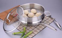 Chinês talheres de aço inoxidável 18/10 Panelas cozido no wok de fritura (SX-A32-3)