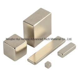 Nickel-PlatedのサイズのネオジムのNdFeBのカスタマイズされた正方形の強い磁石
