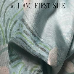 印刷された絹のあや織りファブリック、デジタルプリントが付いている100%の絹のあや織りファブリック。 デジタルプリント絹のあや織りファブリック