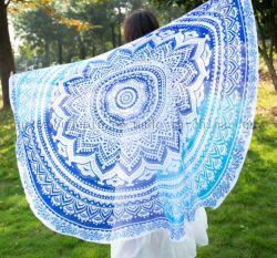 Custom Summer Chiffon Fashion Round Beach Handdoek Pareo Voor Promotie