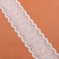 Poliestere/tipo di nylon merletto del tessuto del voile e del materiale di stirata