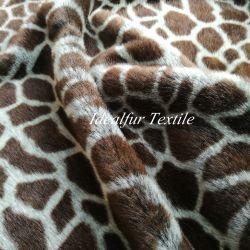 Imitação Giraffe Pattern Peles Falsos tecidos de poliéster