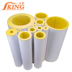 Materiales de embalaje el aislamiento de calor y tubo de lana de vidrio ignífugo