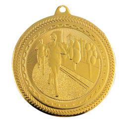 Customized 3D Estampagem Maratona Gold Medal of Honor Honra Pino Militar de ferro