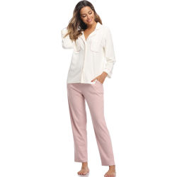 Frauen-Baumwollfeste Rippe Homewear Oberseiteund kurze Hosesleepwear-Nachtzeug-Pyjama-Sets