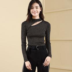 2019 Nuevos diseños Shinny Ladies Jersey Jersey de tejido, géneros de punto para la primavera/otoño