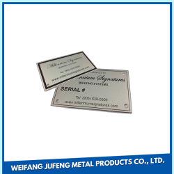 Estampación metálica de acero inoxidable placa de nombre para la flexión/Spinning/Galvanoplastia Productos