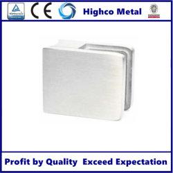 Usine de gros de la main courante en acier inoxydable verre carré le collier (55x55mm)