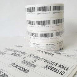 Autocollant de l'étiquette de code-barres thermique personnalisé pour l'étiquette de code à barres de l'imprimante Zebra
