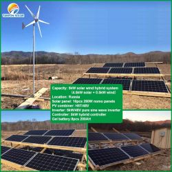 Широко использовать 10квт свободной энергии низкой скорости вращения гибридный солнечного ветра с ветровой турбины и солнечная панель для ферм