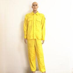 Etiqueta de identificação personalizada de logotipo 100% algodão Ignifugação Anti-Static Fr Vestuário Vestuário de óleo da Indústria