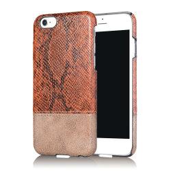 PC di alta qualità + coperchio posteriore duro di cuoio della cassa dell'unità di elaborazione della pelle di cuoio per iPhone7