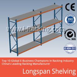 El tramo largo estantes de metal para nave industrial soluciones de almacenamiento (IRB)