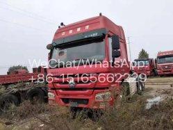De Chinese Gebruikte HOWO 2016 CNG Vrachtwagen van de Tractor 420HP 6X4 voor Oezbekistan