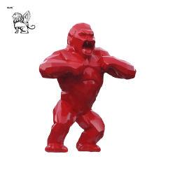 Home Decoratie Outdoor Garden Maatwerk Animal Resin Standbeeld glasvezel Gorilla Sculpture FSM-03