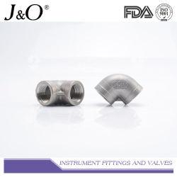 150lbs 90度のステンレス鋼の管付属品の高圧産業女性の端の肘