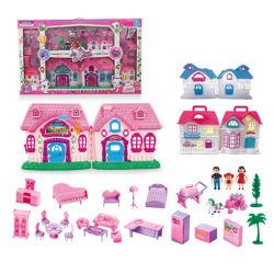 Operado a bateria Toy Villa Doll House com luz e música (H7849165)