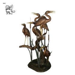 屋外の庭の青銅の水鳥の彫刻Basc-015