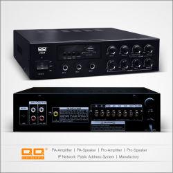 PAD-120 USB FM 라디오 및 Bluetooth PRO 오디오 스테레오 12V 앰프 5 마이크 입력 2 보조 입력
