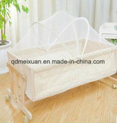 Commerce de gros Berceau Berceau lit en bois véritable petite table d'envoyer des moustiquaires de lit bb pouvez coller une carte (M-X3704)