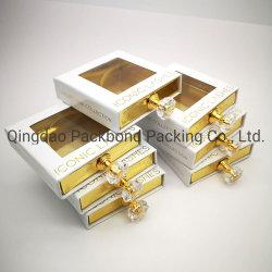 Square nuevo cierre magnético las pestañas personalizadas cajas de embalaje Caja de pestañas de visón