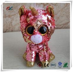 Ojos grandes Unicorn animales de peluche juguete con lentejuelas para niños